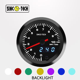 636 Sensor 7 Color Sinco Tech Dash Digital RPM Gauge