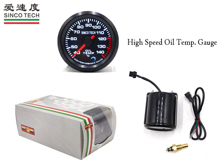 Professional Oil Temperature Gauge ℃ Unit / 52MM / 7 Colors DO 6345 For Rally Cars