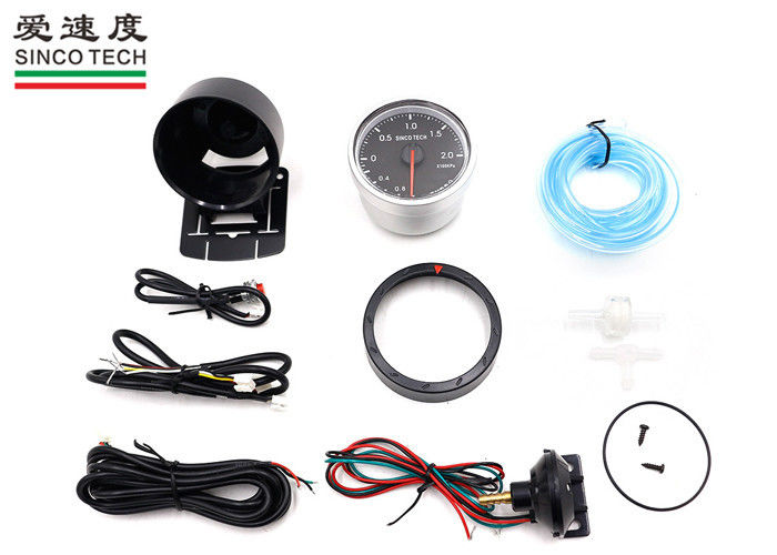 Universal Turbo Boost Gauge 7 Color Backlight 60mm 12V With Warning Function